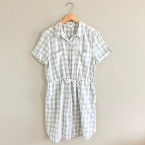 Beachlunchlounge dress gray and ivory plaid